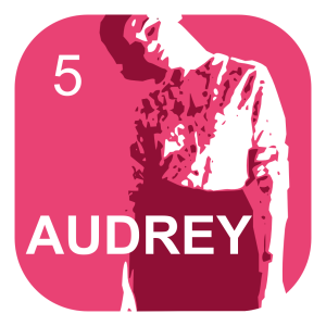 Audrey; available for purchase on Etsy!